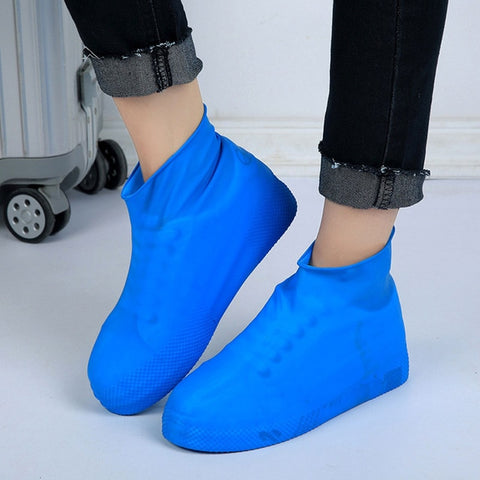 Waterproof Rain Reusable Shoes Covers. Slip-resistant Rubber Boot