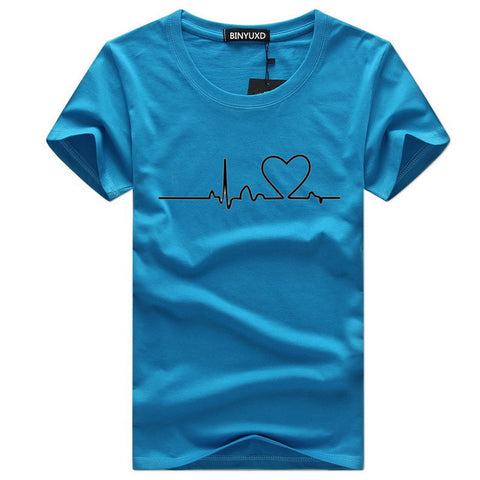 Men'S T-shirts Casual Love Printed