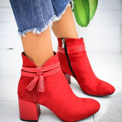 Women Flock Ankle Boot
