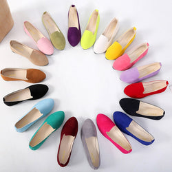 Women Soft Shoes Girls Solid Flat