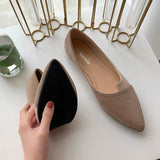 Women Flat Shoes Splice Color  Slip On