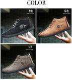 Men Fashion Leather Shoes Winter Warm Men Sneakers Lace Up