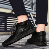 Leather Casual Shoes Plus Velvet Men