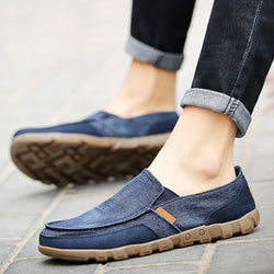 Casual Men Shoes Breathable Slip-On Flat Canvas