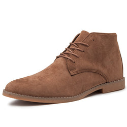 Men High Top Soft Oxfords Male Boots