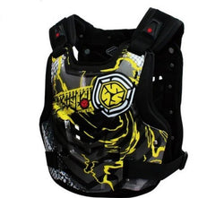 Protective vest for motorcyclists.
