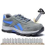 Leather Men Work Safety Shoes Steel Toe Security Shoes