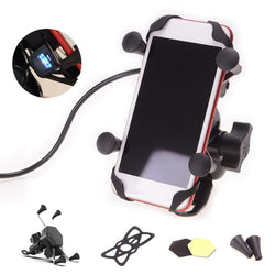Motorcycle Cell Phone Waterproof Holder With USB Charger