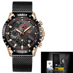 Men Sports Full Stainless Steel Waterproof  Quartz Watch