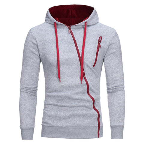 Casual Solid Color Men Hooded Pullover Sweatshirt