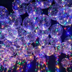 10 pk led transparent reusable glowing balloons for birthdays or weddings