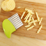 Wave onion/potato slicer
