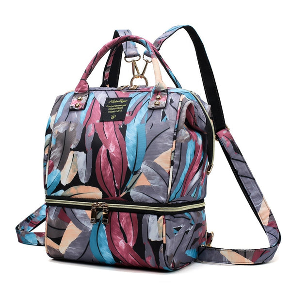 Printed Backpack Diaper Bag