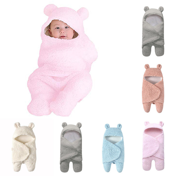 Newborn Baby Cotton Receiving Sleeping Blanket Boy or Girl Wrap Swaddle