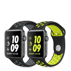 Breathable Silicone Sports Band for Apple Watch 1-5 Series