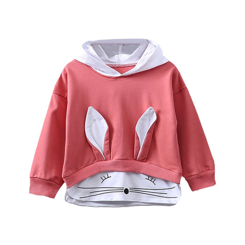 Baby Girl Long Sleeve Rabbit Hoodie Sweatshirt