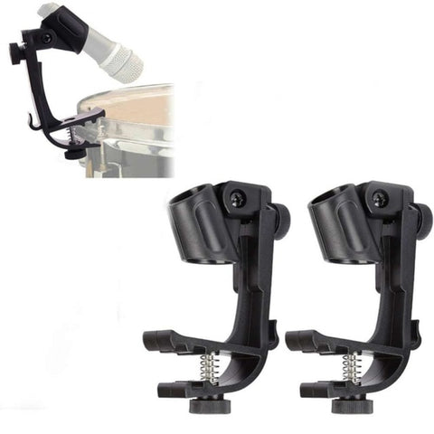 Microphone Holder Adjustable Clip 1 pair