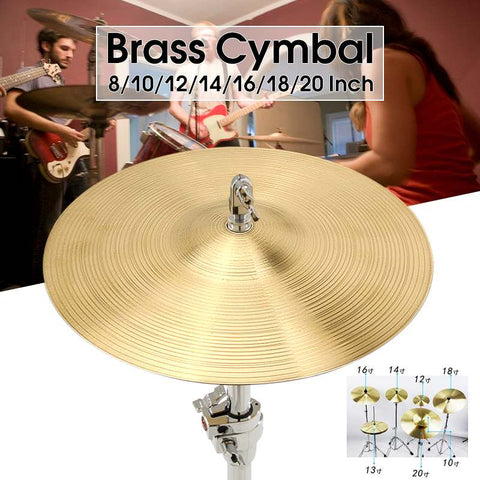 Professional 8/10/12/14/16/18 Inch Durable Brass Alloy Cymbal Drum Set