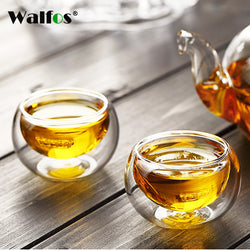 50ML Heat Resistant Double Wall Layer Tea Cup