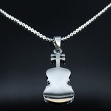 Violin Stainless Steel Necklace