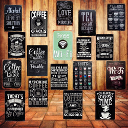 Cafe Retro Decorative Plates Metal Poster