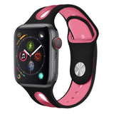 Silicone Strap For Apple Watch Band 42mm 38mm 44mm 40mm