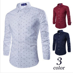 Casual Long Sleeved Small Arrow Business Dress Shirt