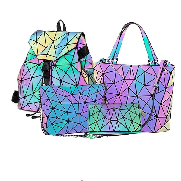Geometric Luminous Hand Bag. Crossbody Bag