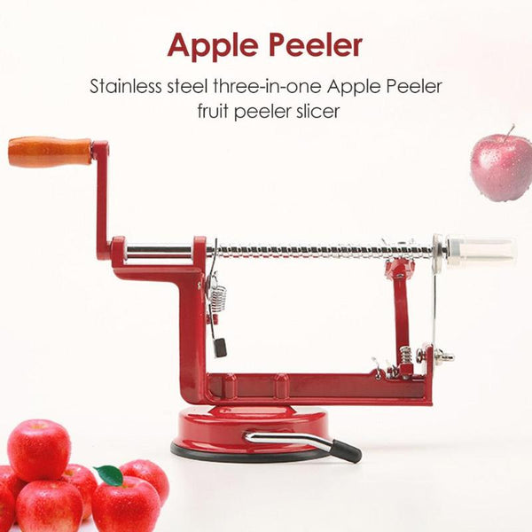 3 in 1 Manual Apple Peeler Stainless Steel Twisted Potato Apple Slicer Spiral Fruit