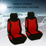 4 Pcs Car Seat Cover. Full Set Polyester Fabric Universal Automobile Seat Covers