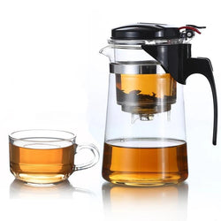 Heat Resistant Glass Tea Pot With Infuser