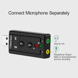 USB 2.0 Mic Speaker Audio Headset Microphone 3.5mm Jack Converter