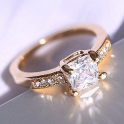 Women engagement Crystal Rings