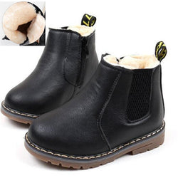 Cozy Boys leather boots.