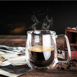 Heat Resistant Double Wall Glass Coffee/Tea Cup