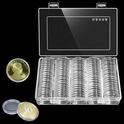 100Pcs/Box Display Cases Organizer Coin