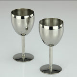 2Pcs Wine Glasses Stainless Steel 18/8