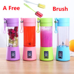 USB Rechargeable Electric Fruit Juicer/Smoothie Maker Blender Machine