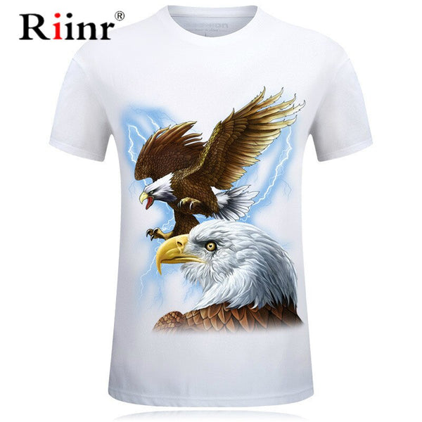 3D T-shirt Men/Women Print Eagle Short Sleeve Tops Tee