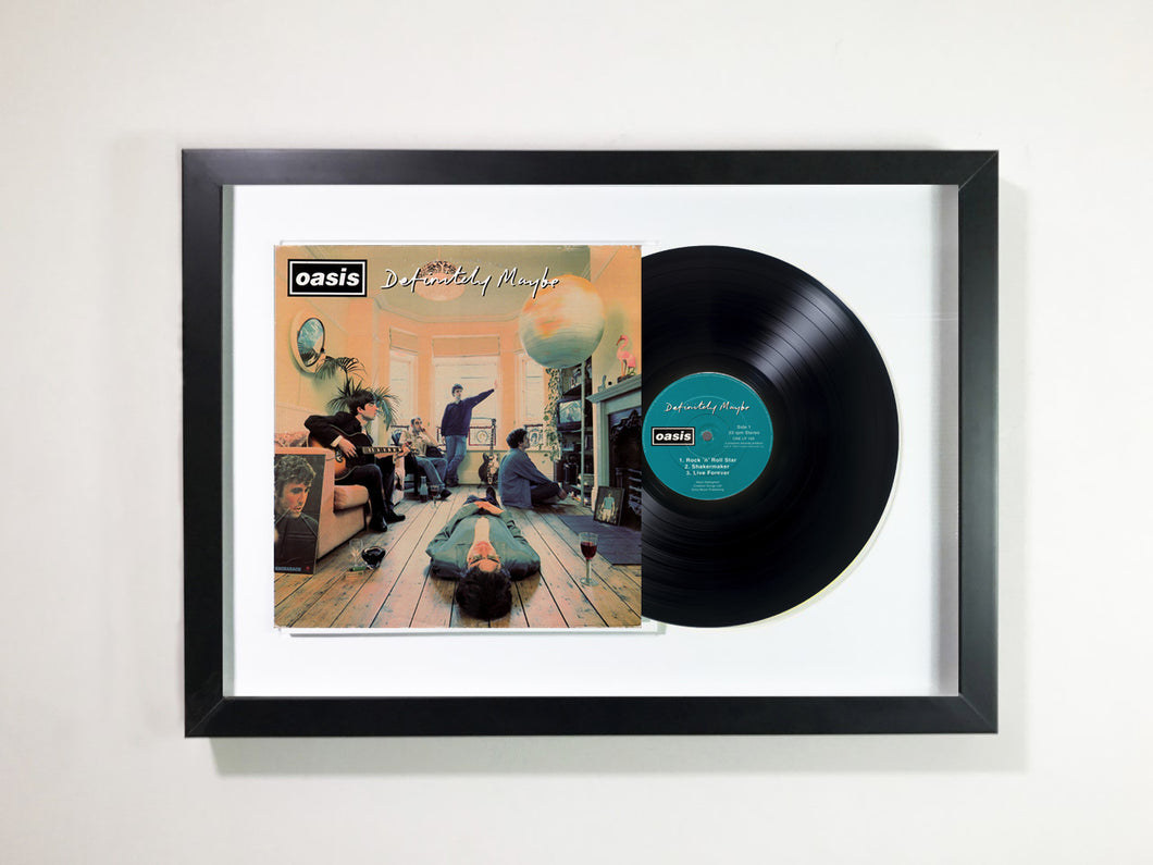 Oasis- Definitely Maybe framed 12