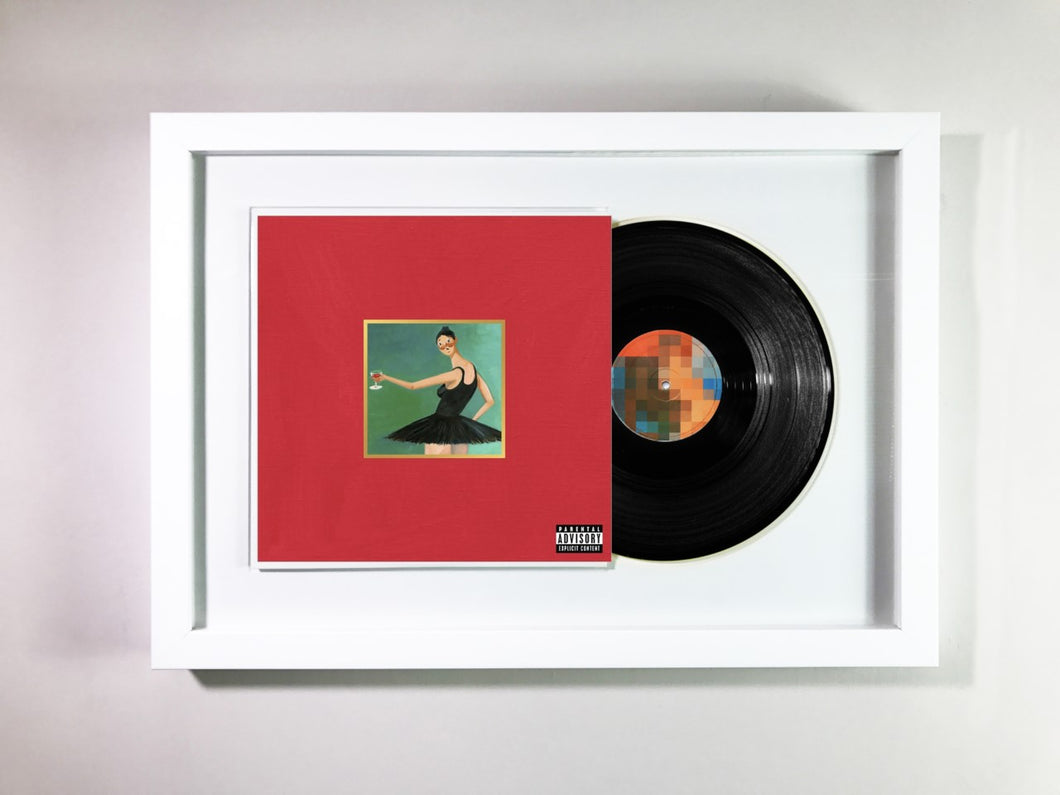 Kanye West- My Beautiful Dark Twisted Fantasy Framed 12\
