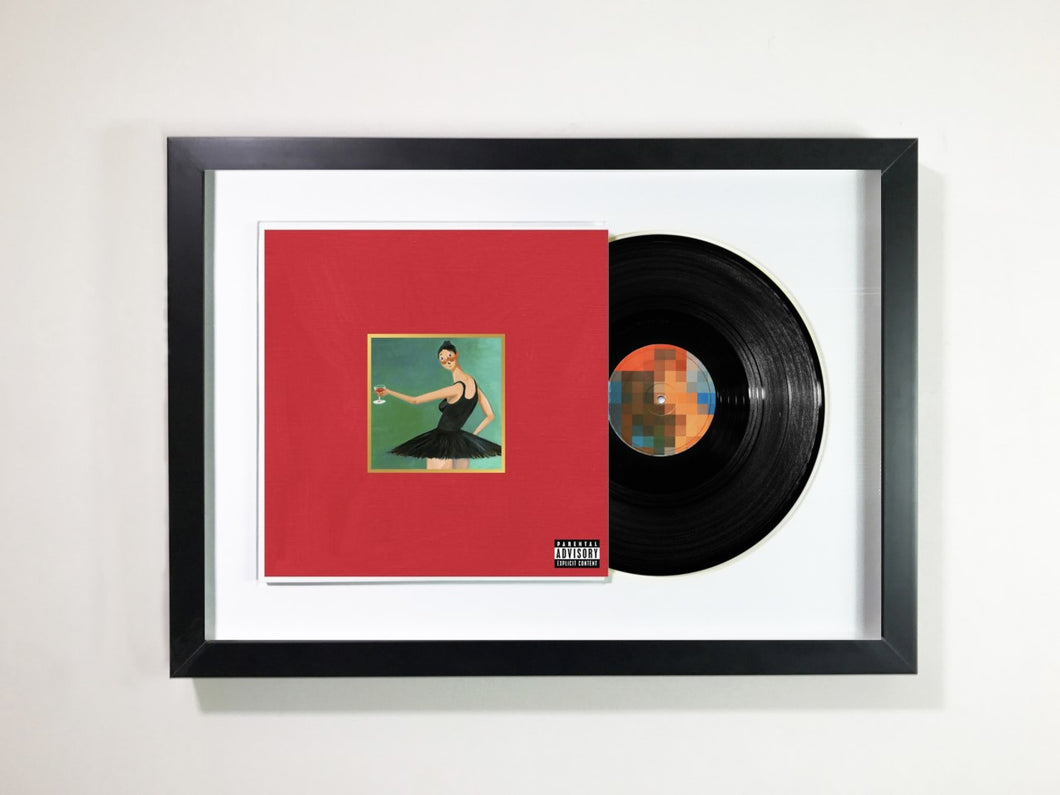 Kanye West- My Beautiful Dark Twisted Fantasy Framed 12