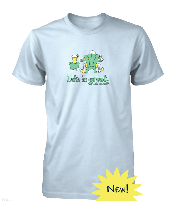 Lake is Great Adirondack Chair T-Shirt
