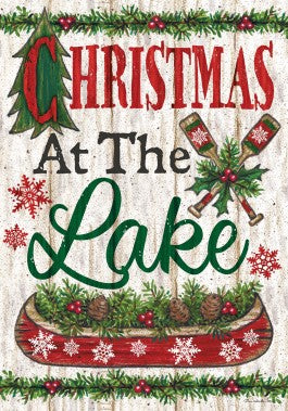 Christmas at the Lake Garden Flag