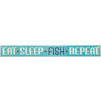 Eat, Sleep, Fish, Repeat Sign - 18