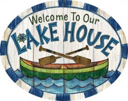 Welcome to Our Lake House PVC Sign