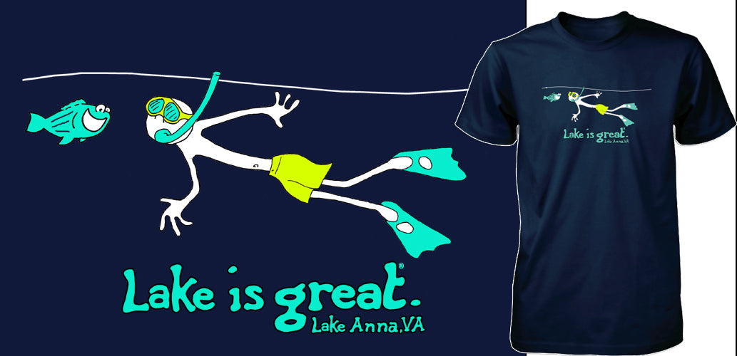 Lake is Great Lake Anna - Scuba Tee - PRE-ORDER