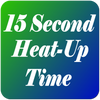 15 Second Heat-Up Time Icon