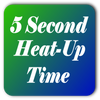 5 Second Heat Up Time Icon