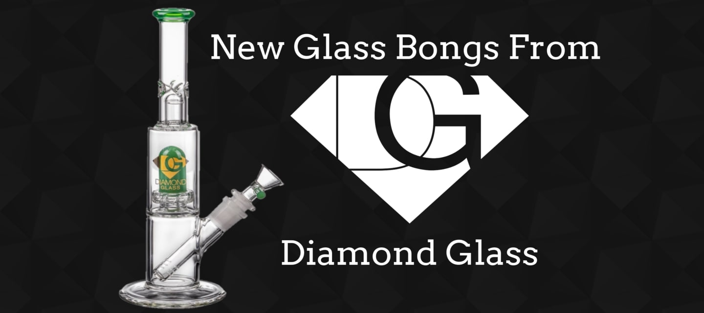 Diamond Glass Bongs and Water Pipes